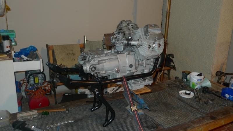4 Engine lower frame assembled